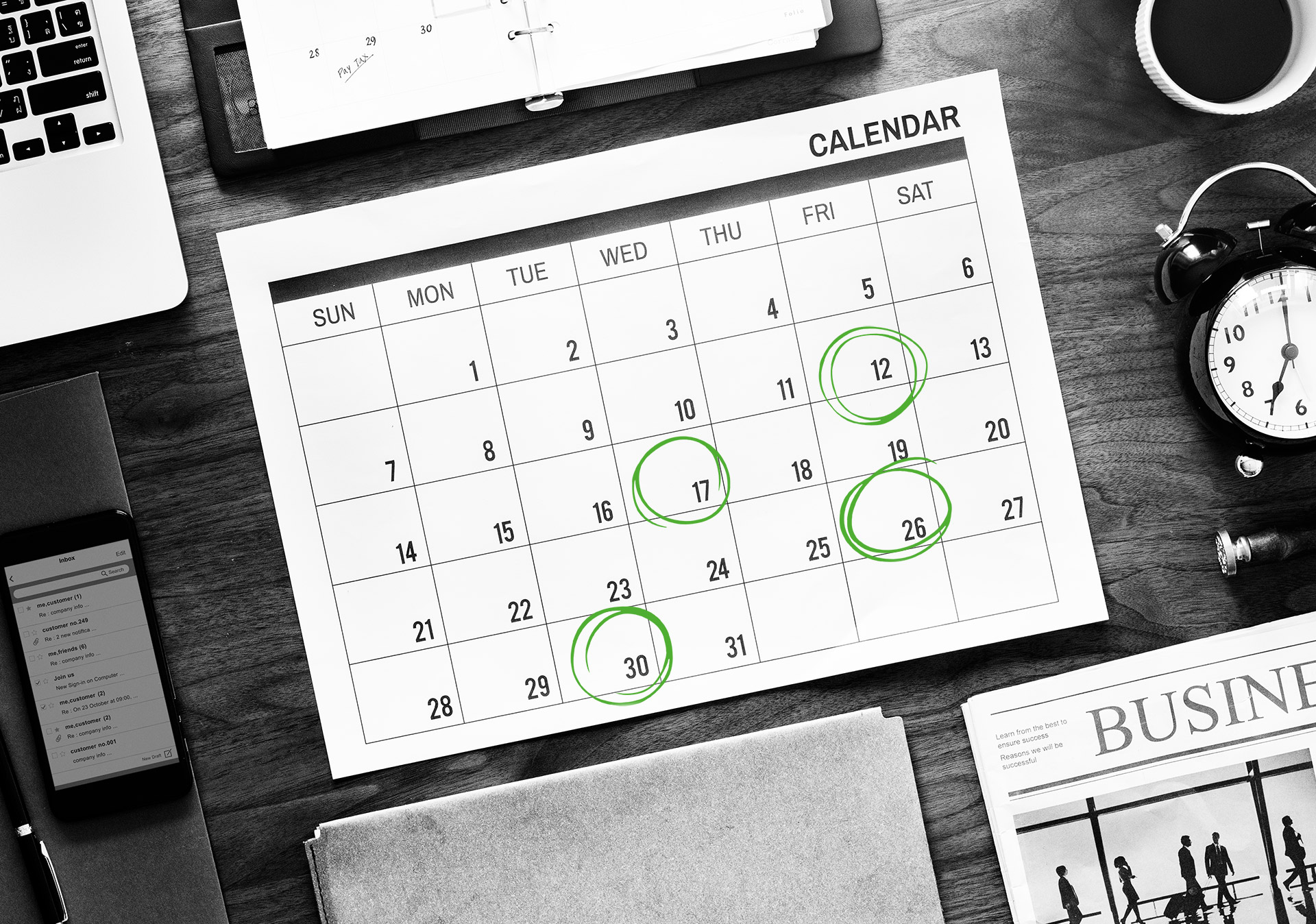 E-Mail Marketing Strategie Kalender